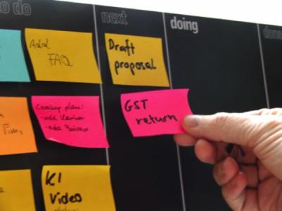 Los posit Kanban es una tecnica que muchas empresas han empezado a utilizar como metodo de organización en grupo. En Malaga, puedes aprender esta tecnica en el master MBA de la Camara de Comercio.