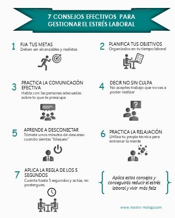 Infografía - 7 consejos para reducir el estrés laboral