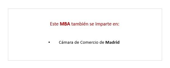 Precio Executive MBA en Málaga